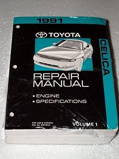 1991 Toyota Celica Repair Manuals (Volumes 1 and 2)