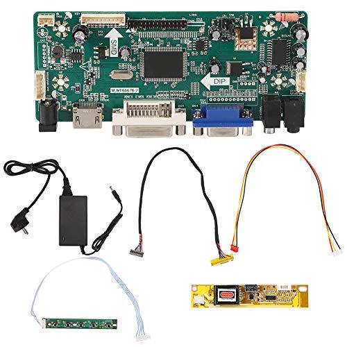 Walfront Enchufe de la UE 110-220V Placa de Controlador LCD Placa de Controlador de TV para reparación LTN154AT01 Instalación de Placa Base de TV Compatible con LIN154AT07 1280X800