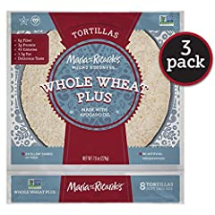 JUST MUCHO GOODNESS! Maria & Ricardo's Whole Wheat Plus tortillas are Non-GMO Project Verified, Vegan & Kosher! Delicious and wholesome tortillas made with Mucho Goodness. WHAT'S IN THEM? Made with the highest quality ingredients like whole wheat flo...