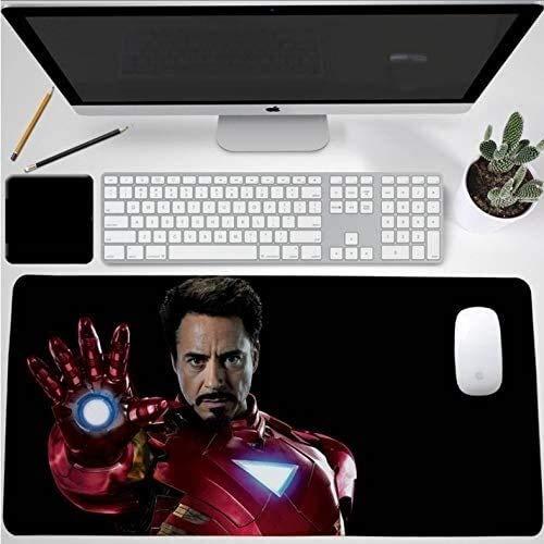 Animado juego alfombrilla de ratón Marvel Iron Man gran tamaño teclado extendido ratón Mat Boy juego de superhéroes Mousepad for Ministerio del Interior impermeable antideslizante de la PC de escritor