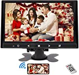Monitor de 9 Pulgadas, Mini Portátil Seguridad Monitor 1024 * 600 HDMI LCD Pantalla HDMI/VGA/AV con Altavoz & Remote Control para PC CCTV DVD DVR Cámara de visión Trasera Cámara de Seguridad