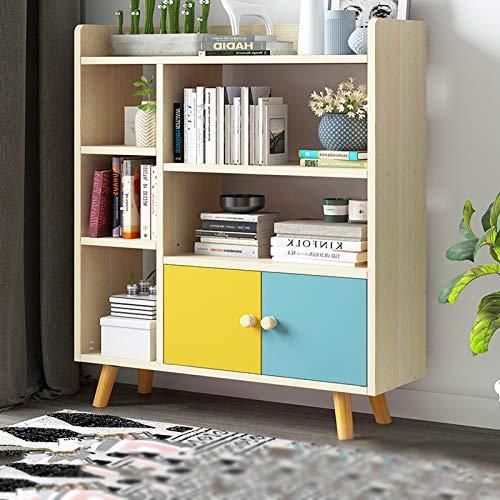 Librería de estilo 3-Tier madera-mirada Estantería Estante de almacenamiento, fácil Asamblea Biblioteca for sala de estar, estrecho, dormitorio, oficina Estante organizador de almacenamiento
