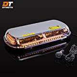 16' 132W Amber LED Mini Light Bar - Waterproof Magnetic Roof Top Mount Emergency Strobe Warning Flashing Light Bar for Trucks Golf Cart Tractors Vehicles Cars Forklift