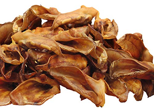 Schecker 1 kg Schweineohren Premium - Deutsche Ware - Wunderbar große, ganz frische Ohren mit Muschel