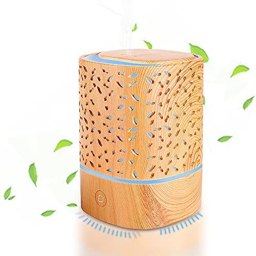 Aroma Diffuser, Ultraschall Luftbefeuchter BPA-Frei Duftlampen Tragbarer Diffusor für Ätherische Öle 125ml Ultra Leise Air Humidifier, 7 Farben LED Vernebler, Auto-Off, für Zuhause,Büro,Yoga,Spa,usw