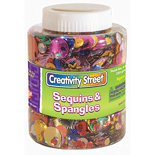 Creativity Street Sequins amp Spangles Jar Assorted Colors and Sizes 230 Grams