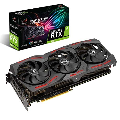 ASUS ROG Strix GeForce RTX 2060 EVO Gaming Grafikkarte (6GB GDDR6, PCIe 3.0, Raytracing, 0db-Technologie, DirectX 12)