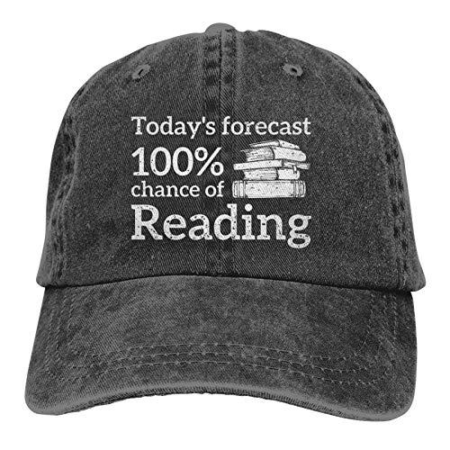 Jopath Reading Will Give Me Strength - Sombrero de vaquero para adultos, color negro lavado para hombre - Nunca dejar de leer
