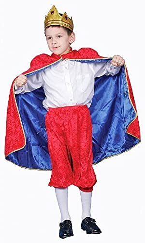 Deluxe Royal King Dress Up Costume Set - rot - Large 12-14 by Dress Up America