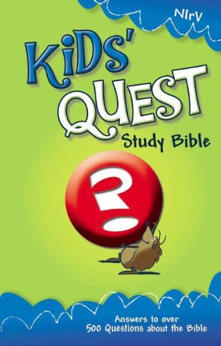 Compare Textbook Prices for NIrV, Kids' Quest Study Bible, Hardcover: Real Questions, Real Answers New International Readers Version Revised Edition ISBN 9780310708780 by Zondervan