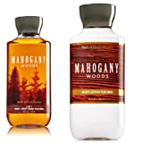 Bath and Body Works Men Gift Set, Lotion, 2 in 1 Hair Body Wash, Mahogany Woods