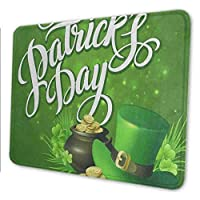 マウスパッド ゲーミングマウスパッド-こんにちは春聖パトリックの日緑花四つ葉のクローバー 滑り止め デスクマット 水洗い 25x30cm