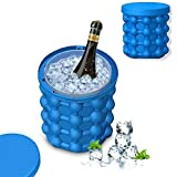 Hetvi trend® Silicone Ice Cube Maker | The Innovation Space Saving Ice Cube Maker | Bucket Revolutionary Space Saving Ice-Ball Makers for Home, Party and Picnic