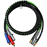 boeray 3 in 1 15 Ft Length Wrap Heavy Duty 7 Way Truck Tractor Trailer Rig Electric Cable Wrap Cord ABS & Air Line Hose Assembly