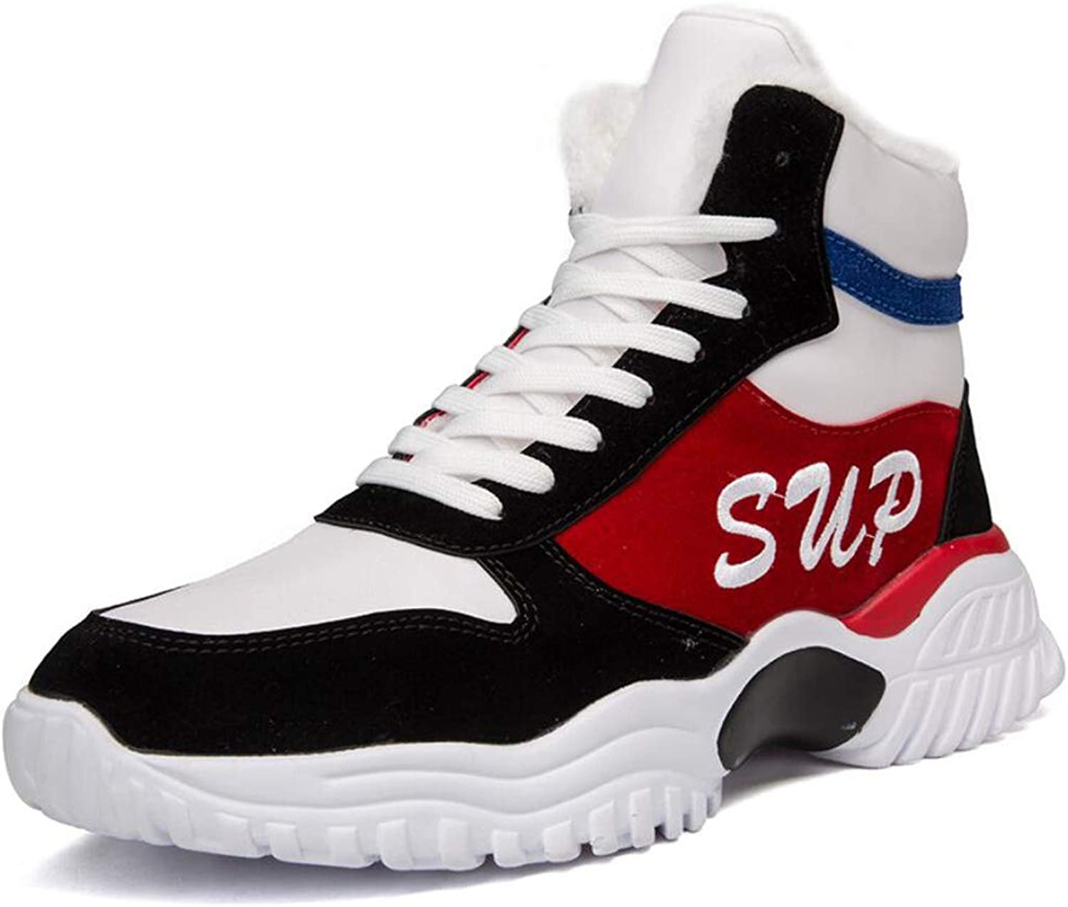 shoes Boys High Help Hip Hop National Tide shoes Rekindling Old Slab shoes Autumn Breathable Casual Sneakers 39-44