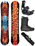 Airtracks Light Beetle Wide Hybrid Rocker 162 - Tabla de snowboard (incluye fijaciones Master y botas Master QL 44 y bolsa)