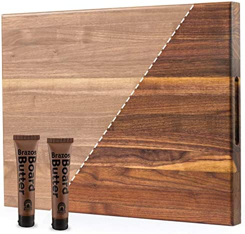 Brazos Home XL Organic Wood Butcher Block Cutting Board for Serving Chopping Fruit Vegetables product image