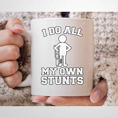 Taza de café I Do All My Own S-Tunts para motos de cross y Super-Cross Rider divertida taza de té para papás y motocicleta, 325 ml