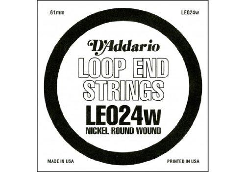D'Addario LE024W, cuerda individual con entorchado en níquel y terminación de lazo.024