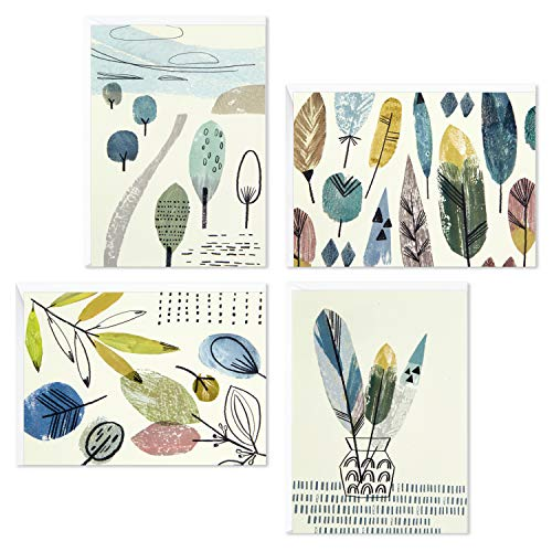 Hallmark Blank Cards Assortment, Nature Prints (48 Cards with Envelopes)