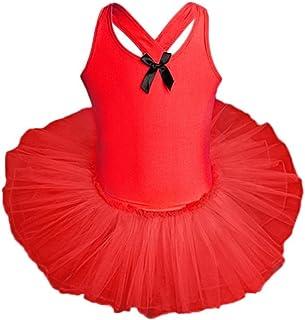 a3638cfecf29c OHQ Filles Danse Gilet Siam Ballet Pratique Costume Tutu Jupe Rose Vif Bleu  Rouge Blanc Toddler