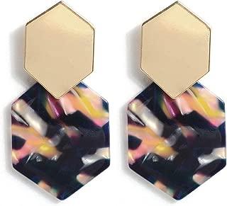 Acrylic Resin Hoop Earrings - Tortoise Shell Earrings for Women Boho Jewelry, Great for Sister, Friends, Mom