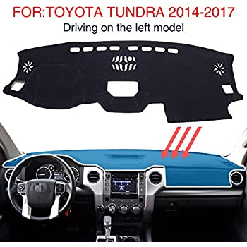 Coverking Custom Fit Dashboard Cover for Select Toyota Tundra Models Velour Gray