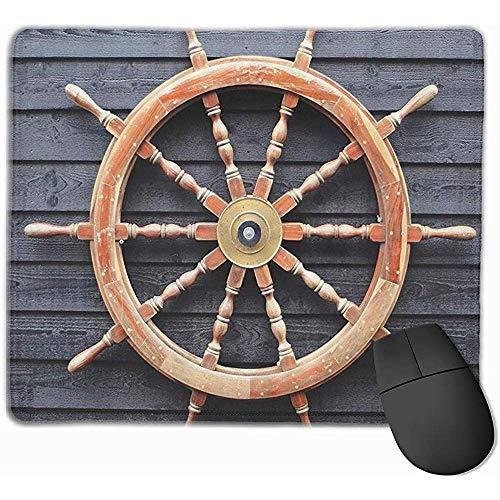 Old Trawler Lenkrad Captain Personalisierte Mauspads mit genähten Kanten rutschfeste Gummibasis Erweiterte Gaming-Mauspad