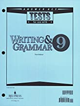 Writing and Grammar 9 (Answer Key) (Tests For Use With)