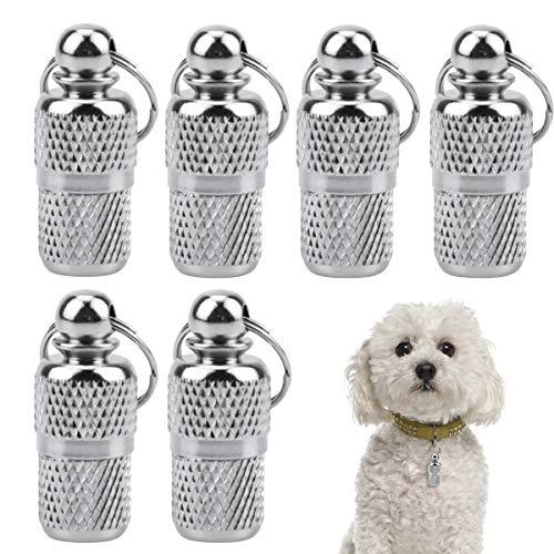 Netspower 6 Stück Hundemarke Tiermarke mit Schlüsselringe und Adressanhänger für Hunde Katzen, Anti Lost Namensschild Halsbandanhänger Haustier ID Tag Tiermarke Anhänger zur Tierkennzeichnung