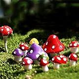 Carry stone Premium Qualität Miniatur Pilz Micro Landschaft Bonsai Sukkulenten Garten DIY Dekor - Mischfarbe M