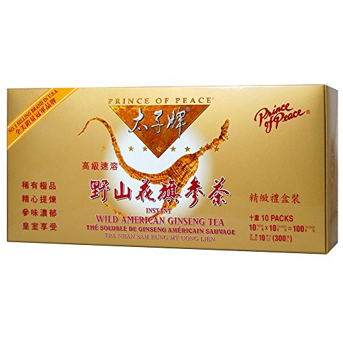 Prince of Peace Wild American Ginseng Instant Tea (100 Sachets)