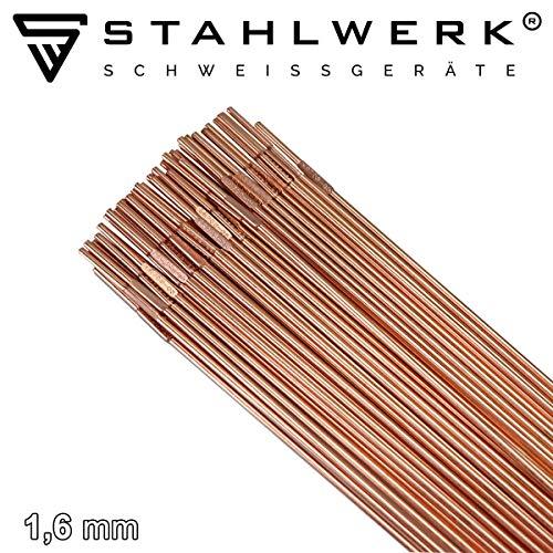 STAHLWERK Schweißstäbe Set ER70S-G3 Stahl & ER307Si Edelstahl hochlegiert & ER4043Si5 Aluminium/Ø 1,6 x 500 mm/je 0,8/1kg WIG Schweißzusatz
