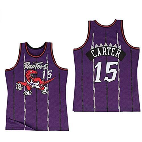 Tissu respirant Toronto Raptors # 15 Vince Carter Vintage Maillot Homme et Unisexe Basketball Maillot T-shirt - Violet - XX-Large