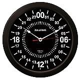 (トリンテック) TRINTEC ZULUTIME 壁掛時計 (黒) 24時間時計 10インチ