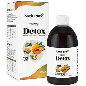 Detox adelgazante   Diurético potente natural líquido 500ml sabor frutos rojos   Formula detox drenante, antioxidante   Eliminación de toxinas   Te verde, guaraná, papaya, alcachofa   VEGANO
