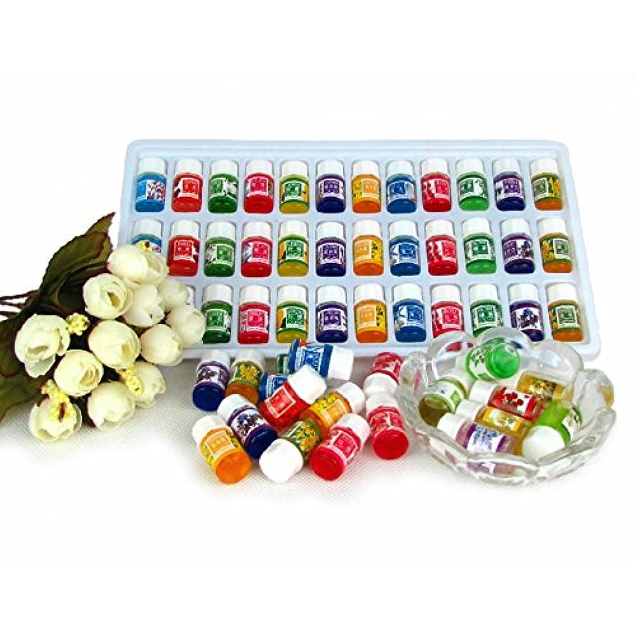 めまい結果として支配的Hongch ピュアラベンダーエッセンシャルオイル 毎日パックセット ナチュラル36pcs / lot 水溶性 12種類の香り 毎日