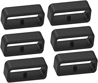 حامل حزام آمن أسود من السيليكون من تينكلاود متوافق مع سلسلة أبروتش S10 و S20 و S60 و S62 لساعة أبروتش S62 / S20