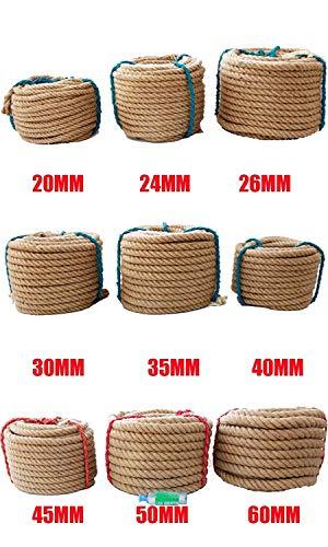 Corde De Chanvre 10 M Jute Twisted Corde Corde De Jute Ficelle Naturelle Corde De Chanvre Twine Corde De Jute Corde Pour Emballage De Cadeaux Jardin Emballage Decoratio (Size : 40MM x 10Meters)