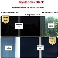 OUPAI 窓フィルム 片方向ミラーウィンドウフィルム、抗紫外線熱制御静的に密着ウィンドウプライバシーガラスフィルム装飾的な取り外し可能なウィンドウの色合い3個24インチ×7フィート ガラスフィルム (Color : A, Size : 59inch × 7feet)