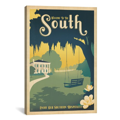 iCanvasART American Series: ASA-South Canvas Art Print by An...