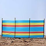 Laeto - Cortavientos para Deportes y al Aire Libre, 4 Polos de 4 Pulgadas, diseño de caseta de Playa para el Aire Libre en la Playa