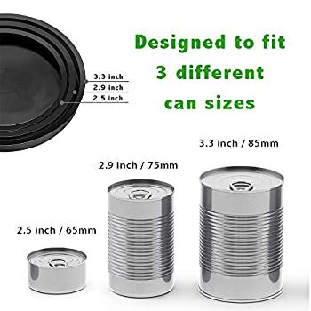 GuMan Couvercle Silicone Alimentaire Lot de 2 couvercles de boîtes de Conservation de Nourriture pour Animaux domestiques avec Oreilles en Silicone pour Chat ou Chien Taille Standard