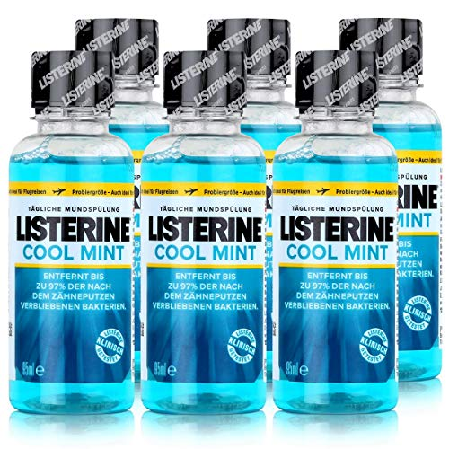 6 * Listerine Mundspülung 95ml Coolmint (6 * 95ml)