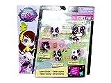 Littlest Pet Shop Hasbro - Familia de animales coloridos - #B1960 - Pack de 5 - #3913 Dawana Robertson, #3917 Paddy Ling, #3915 Delilah Robertson, #3914 Devon Robertson y #3916 Dessa Robertson