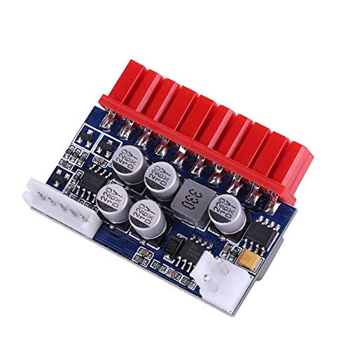 Yctze Fuente de alimentación DC-ATX, módulo de alimentación de Entrada de CC de 12 voltios, Conector ATX de 20 Pines, para Placas Base Mini ITX