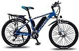 Bicicletas Eléctricas, Bicis de montaña eléctrica de 26 pulgadas de 26 pulgadas, marco de aleación de aluminio de batería de litio 36V, con pantalla LCD multifunción ASSISTA DE 5 ENGRANTES BICICLETA E