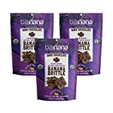 USDA ORGANIC - Certified Organic, Non-GMO Project Verified, Natural Gluten Free, Vegan and Kosher. Made from sustainably upcycled bananas, these will be the tastiest snacks you will ever eat. DARK CHOCOLATE - Rich, dark, and sweet. This indulgent tre...
