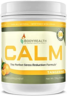 BodyHealth Calm (Tangerine 12oz), Relaxation Supplement That Helps Restore Healthy Magnesium Levels, Provides Calcium-Magn...