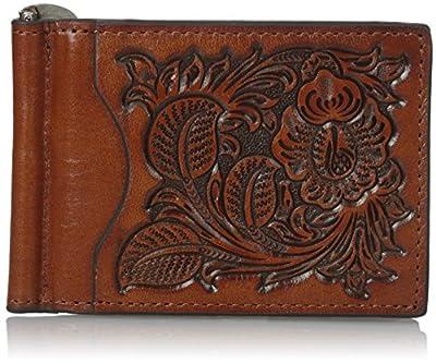 Nocona Belt Co. Men's Nocona Pro Flower Leaf in Money, Tan, One Size